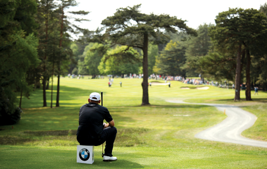 VIRGINIA WATER, ENGLAND - MAY 21:  Thomas Bjorn of Denmark waits on the 12th tee during the second round of the BMW PGA Championship on the West Course at Wentworth on May 21, 2010 in Virginia Water, England.  (Photo by Richard Heathcote/Getty Images) *** Local Caption *** Thomas Bjorn